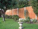 photos of Fence Panels Concrete Posts