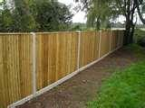 photos of Wood Fence Panels Available