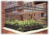 pictures of Wrought Iron Fence Panel Designs