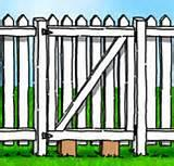 How To Build A Fence Panel Gate photos
